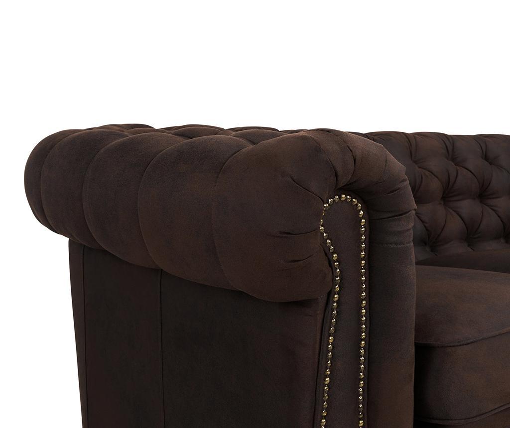 Canapea 4 locuri Chesterfield Vintage Brown