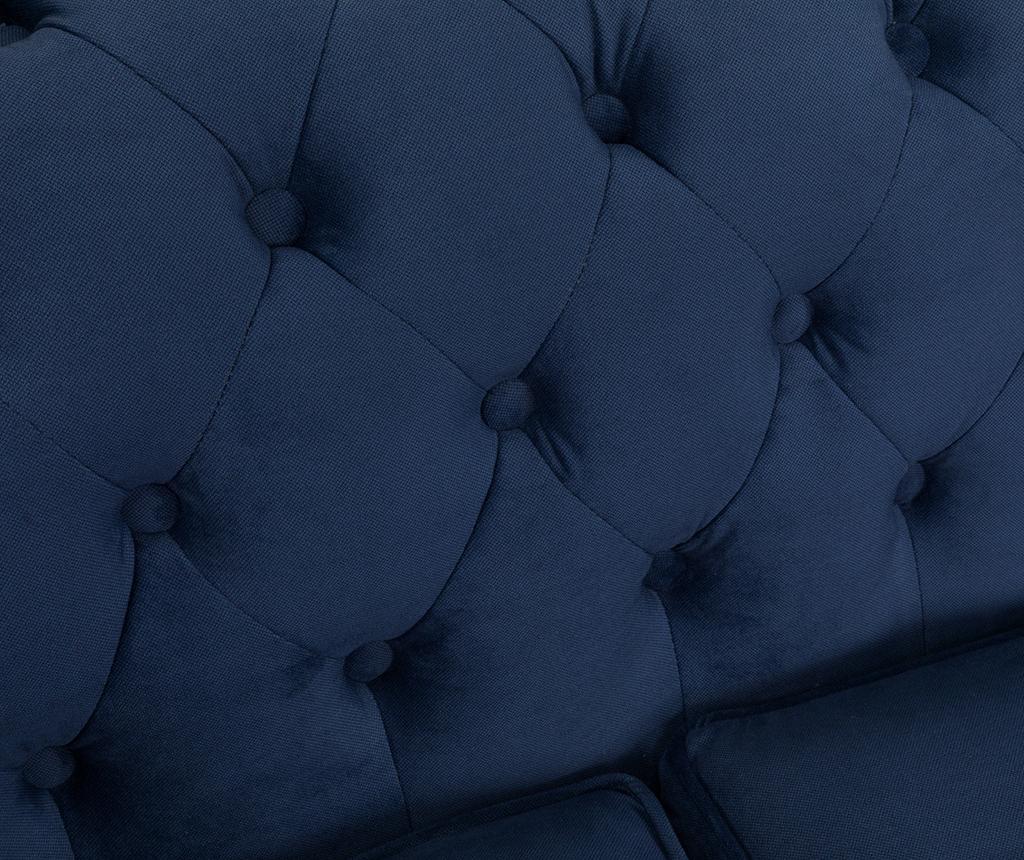 Kauč trosjed Chesterfield Petrol Blue