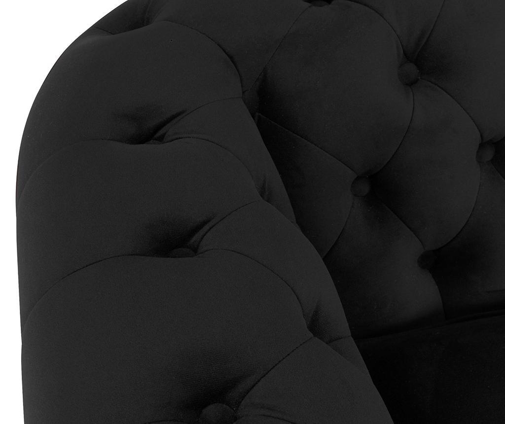 Canapea 3 locuri Chesterfield Black