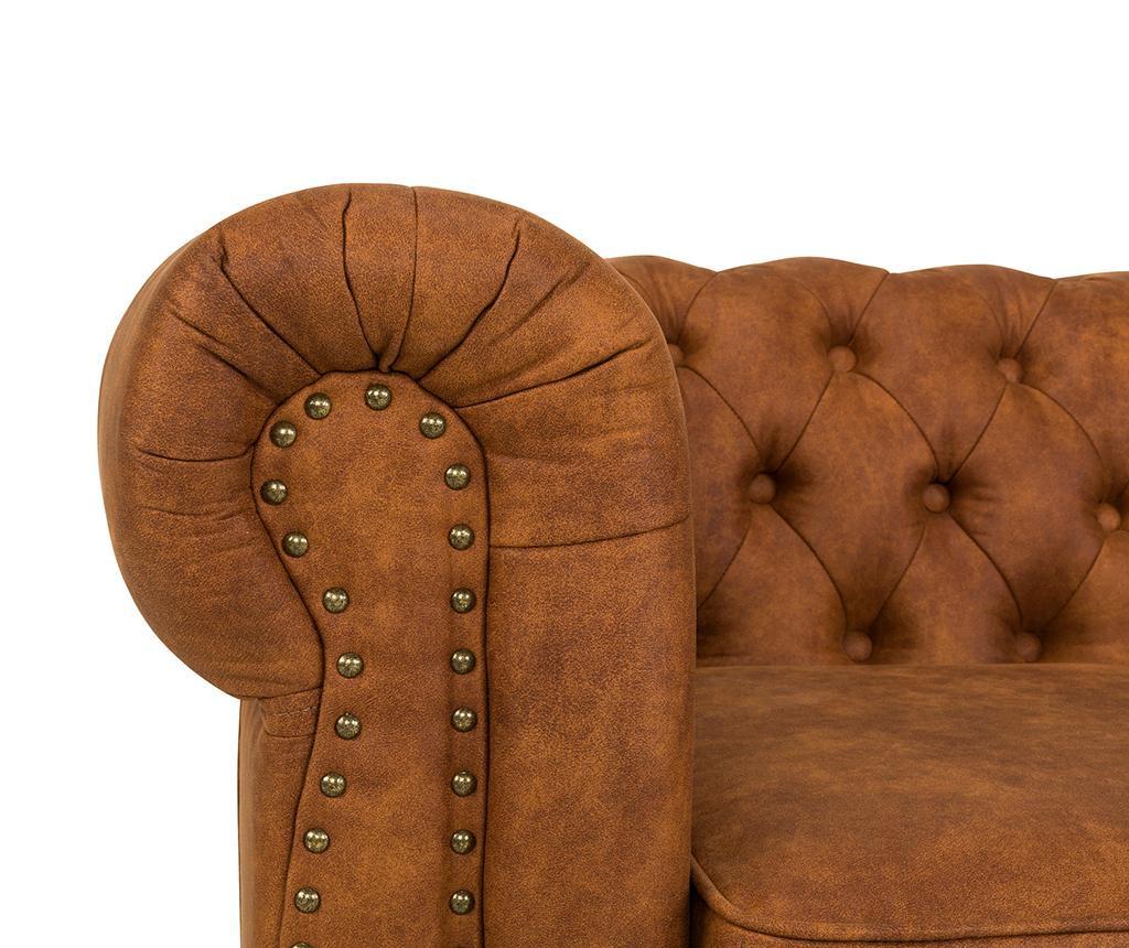 Kauč dvosjed Chesterfield Vintage Cognac