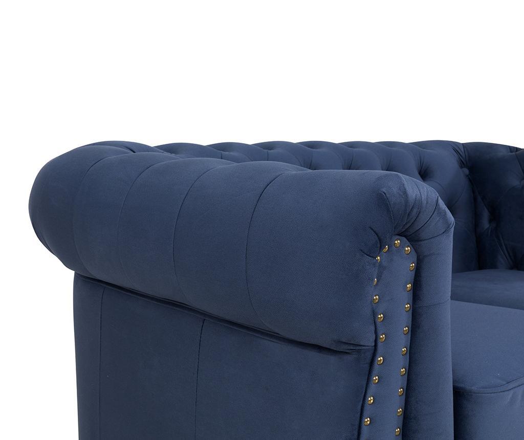 Chesterfield Petrol Blue Kétszemélyes kanapé