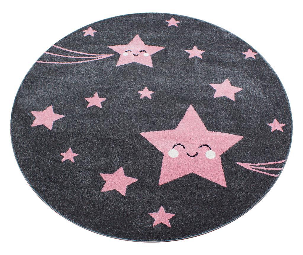 Tepih Night Stars Round Pink 120 cm