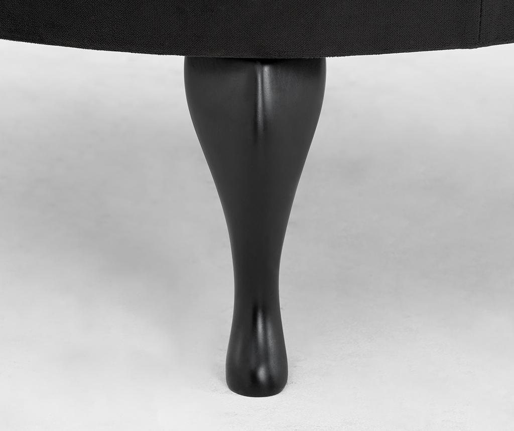 Taburet pentru picioare diYana Wide Black
