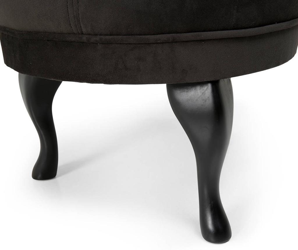 Taburet pentru picioare diYana Black