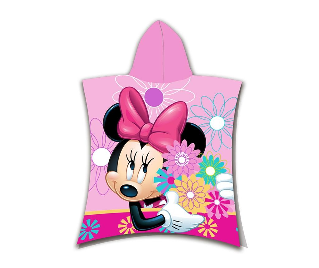 Prosop poncho copii Minnie Flowers 3-6 ani