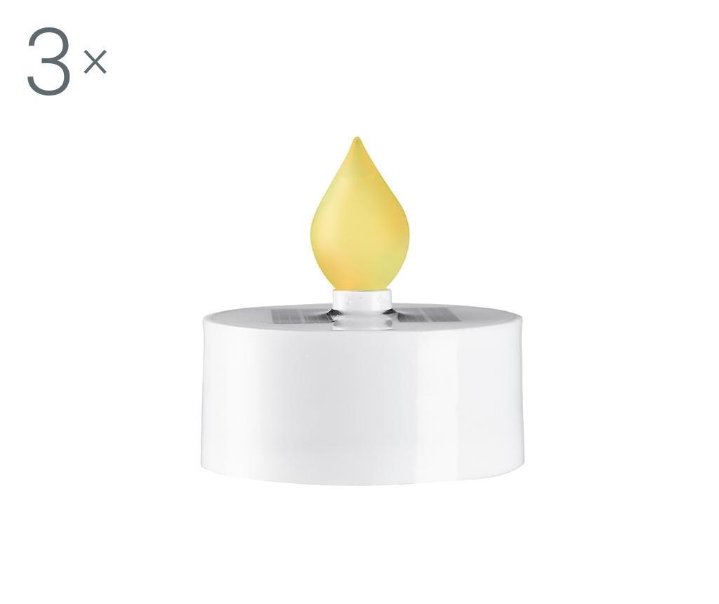 Set 3 svijeće s LED-om Saul