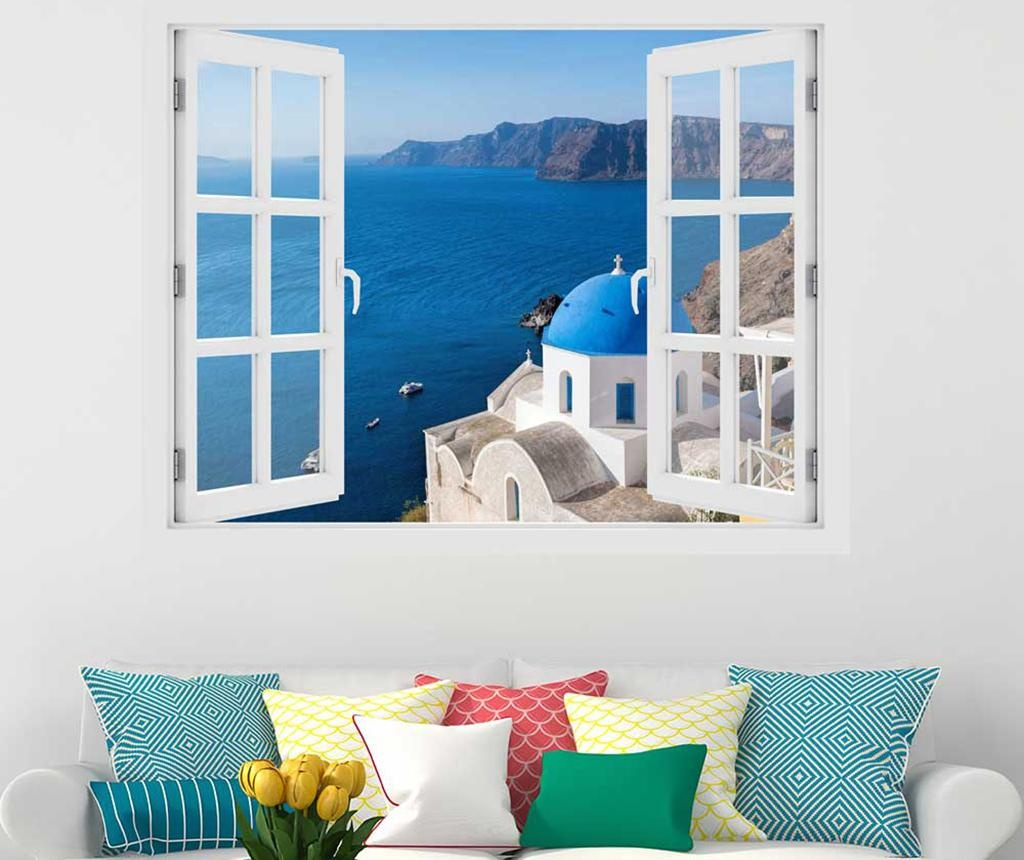 Window Santorini Oia 3D Matrica