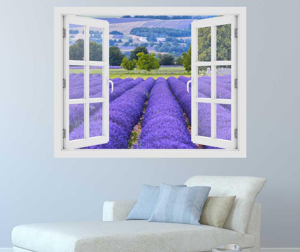 Sticker 3D Window Lavender Field Provence