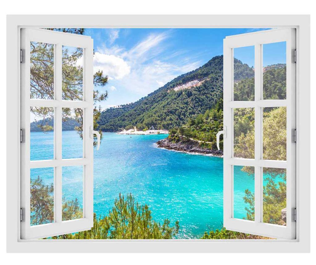 Sticker 3D Window Greece Thassos Island