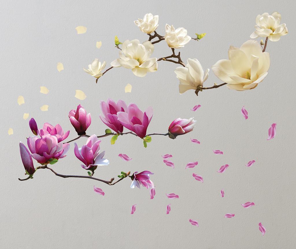 Naklejka Magnolia White Red