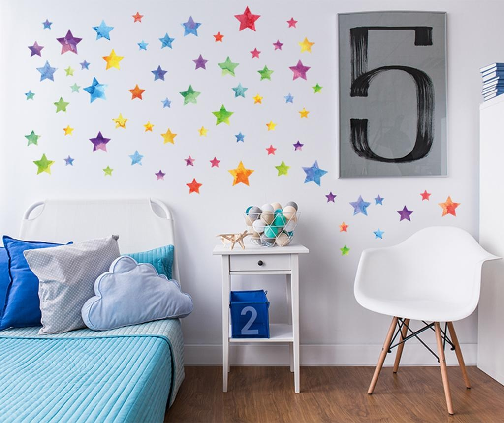 Set 67 stickere Colorful Watercolor Stars