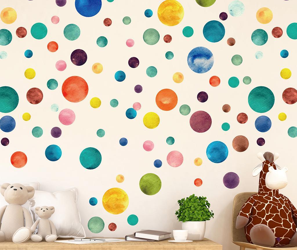 Set 80 stickere Colorful Watercolor Dots