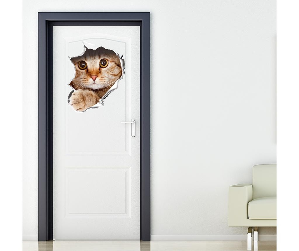 Cat Wall Break 3D Matrica