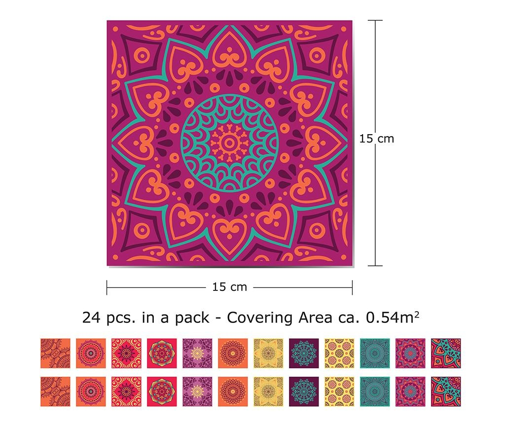 Set 24 naljepnica Mandala Colorful