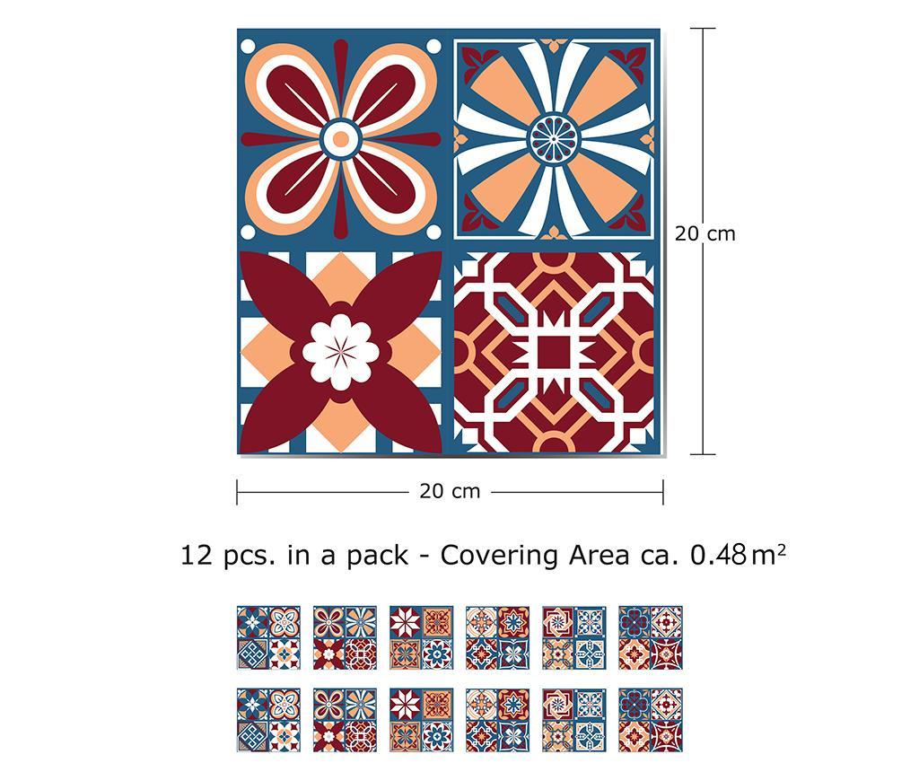 Set 12 stickere Tile Westminster