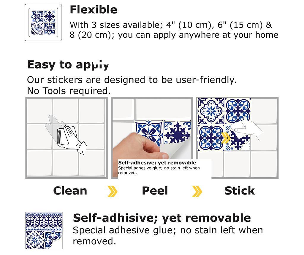 Set 12 stickere Granada Tiles