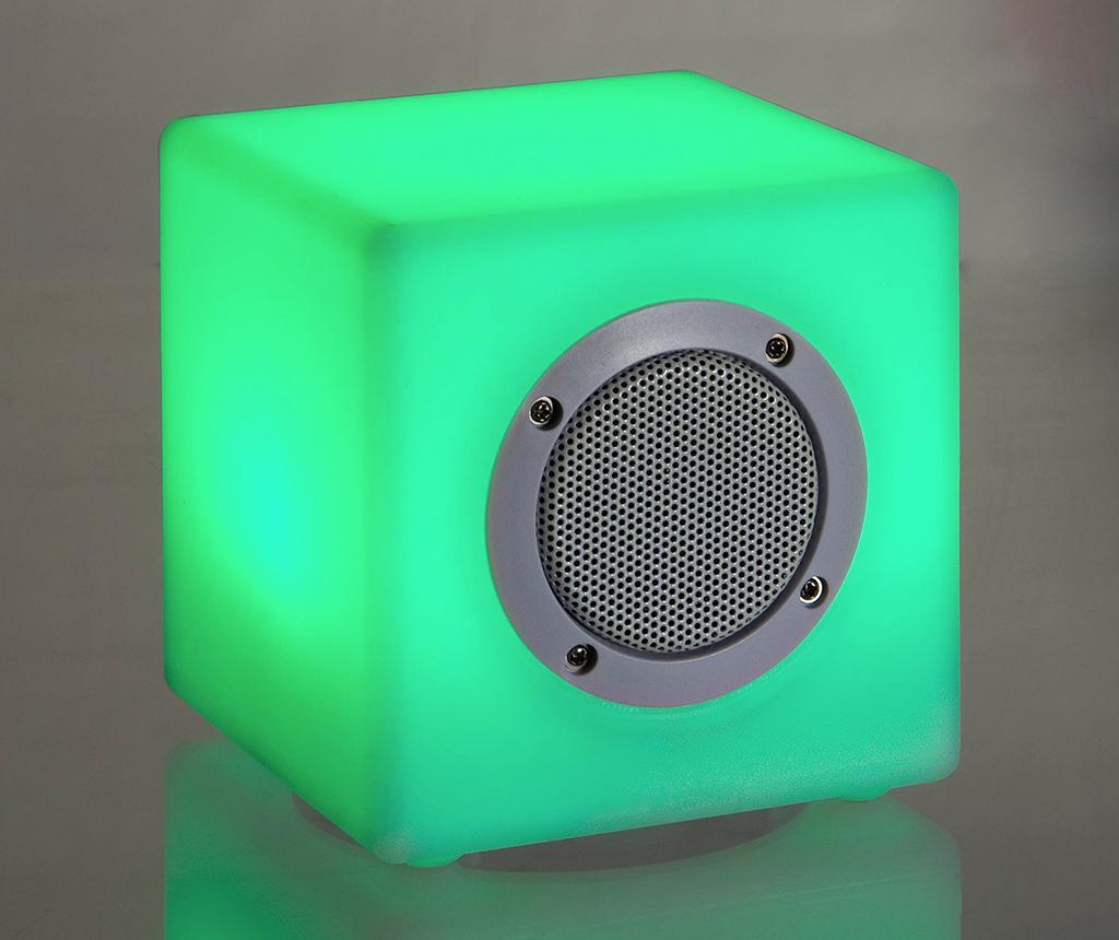 Prenosni zvočnik z LED lučko Cube Small