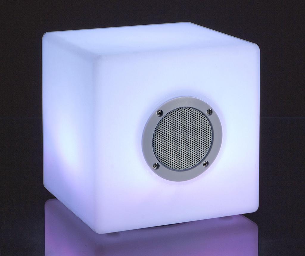 Prenosni zvočnik z LED lučko Cube Large