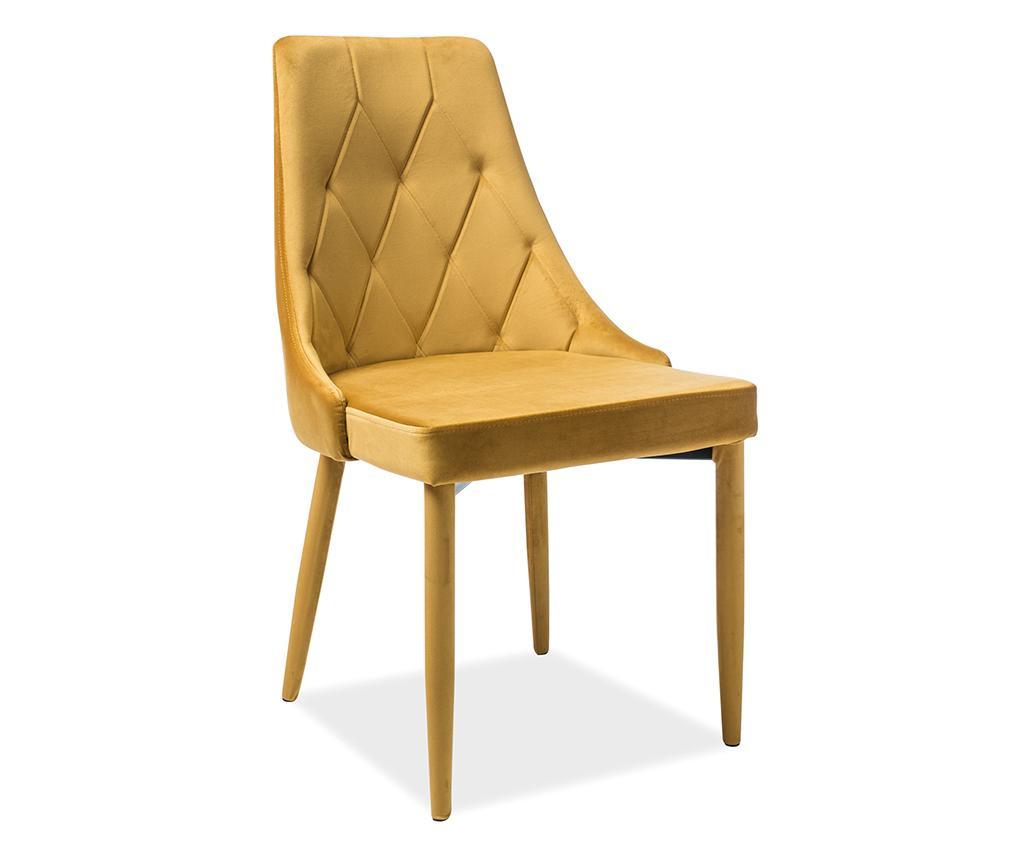 Καρέκλα Maxima Velvet Yellow