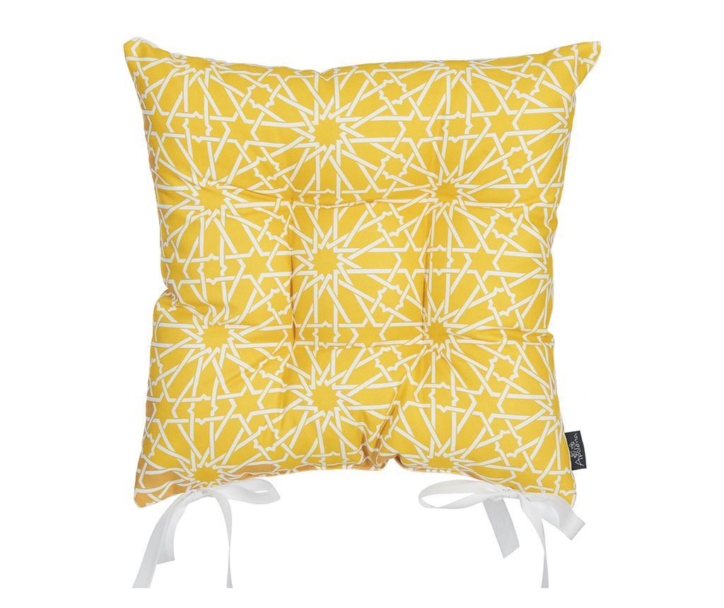 Vankúš na sedenie Wheaton Yellow 37x37 cm