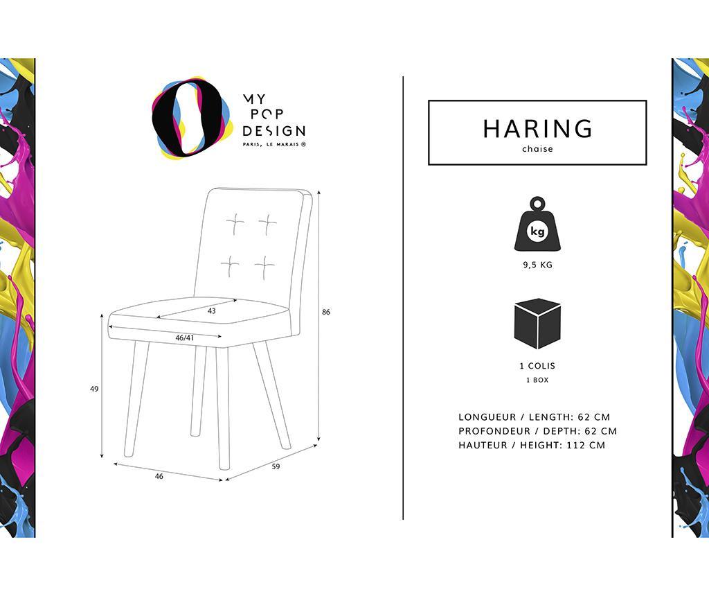 Set 2 scaune My Pop Design Haring Nature Powder