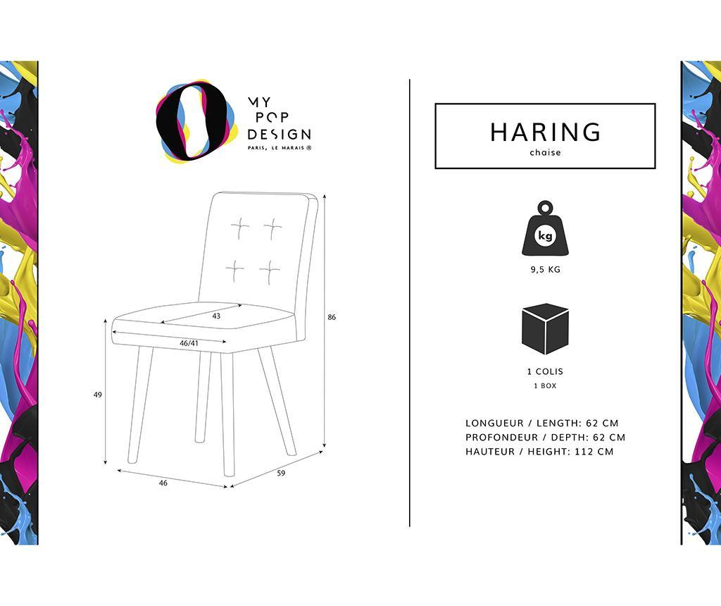 Set 2 scaune My Pop Design Haring Nature Anthracite
