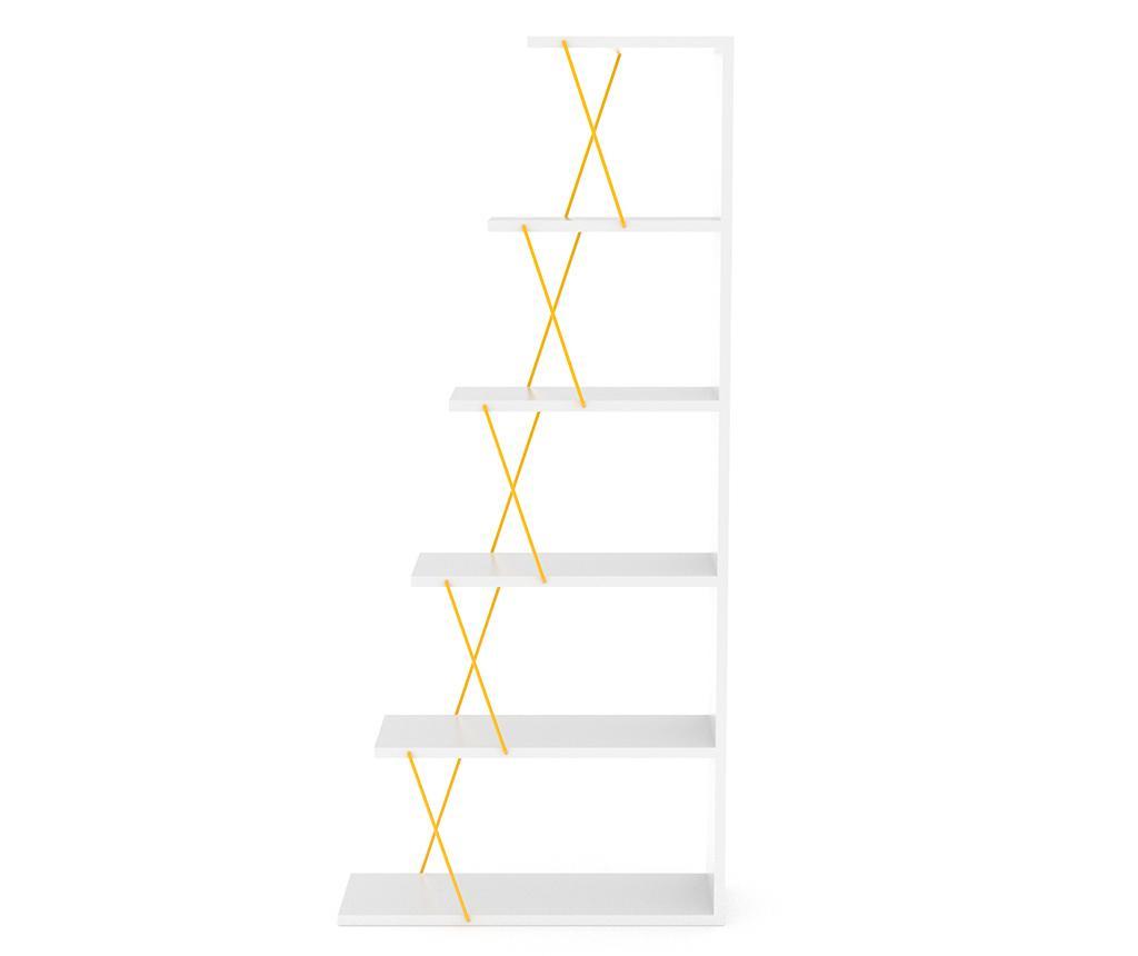Knižnicový diel Tars White Yellow