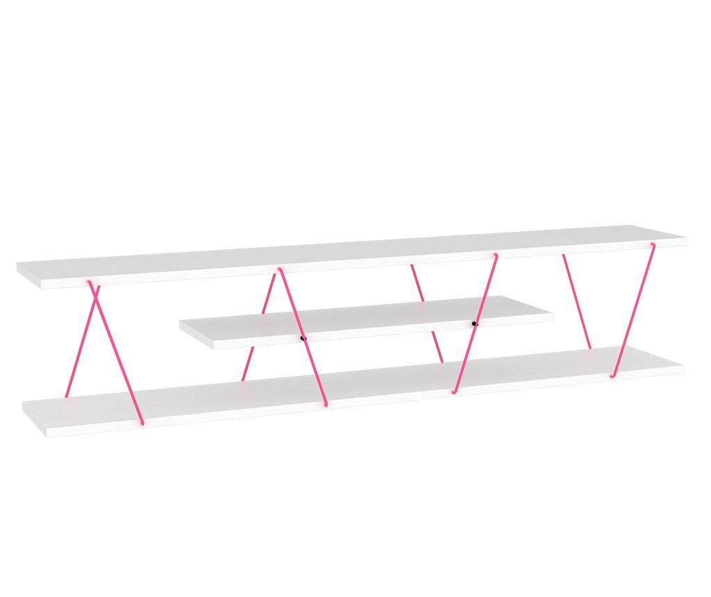 Comoda TV Tars White Pink