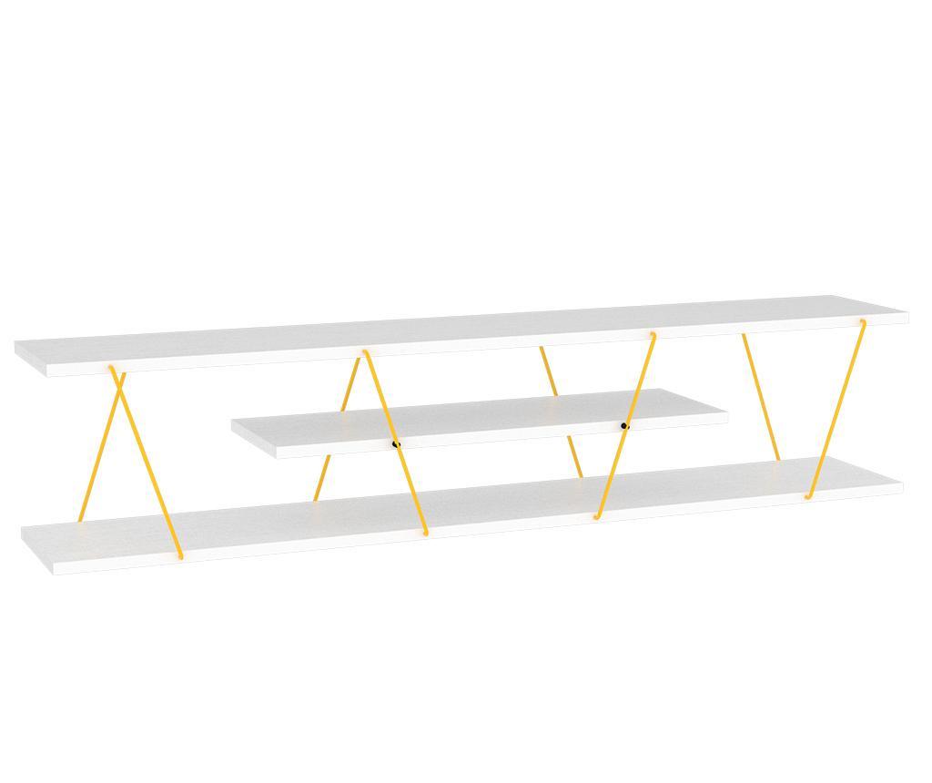 Comoda TV Tars White Yellow