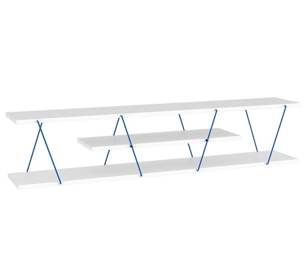 Comoda TV Tars White Blue