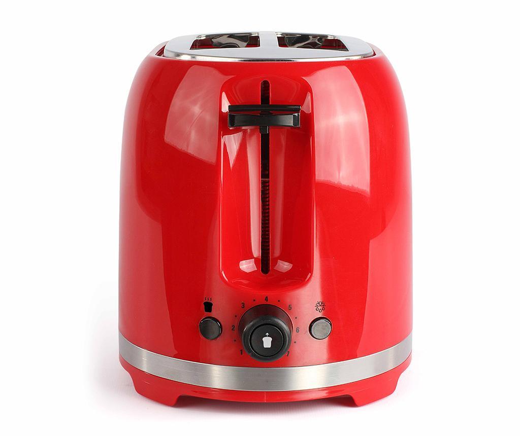 Set prajitor de paine si fierbator electric Breakfast Red