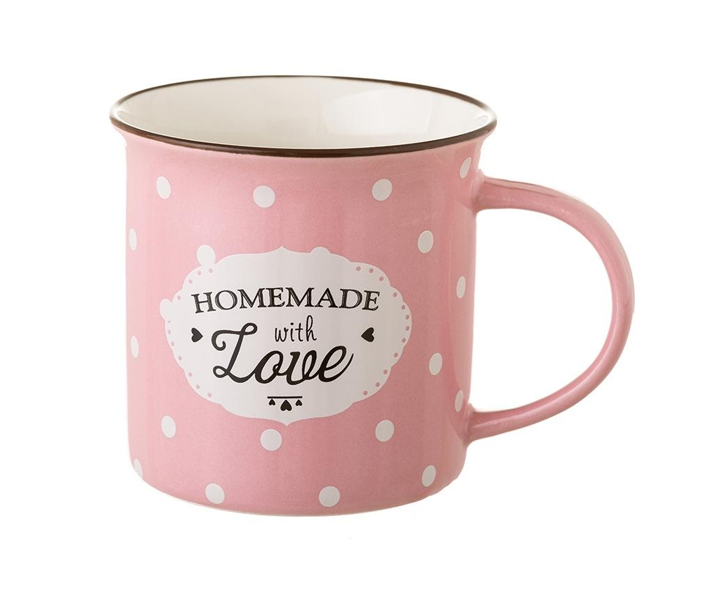 Homemade with Love Pink 4 db Bögre 230 ml