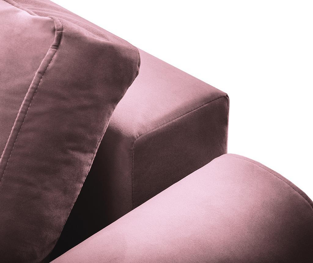 Canapea extensibila 3 locuri Remy Pink