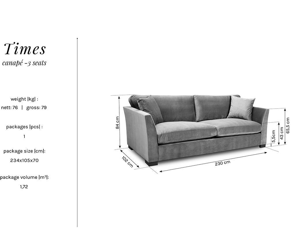 Canapea 3 locuri Times Beige