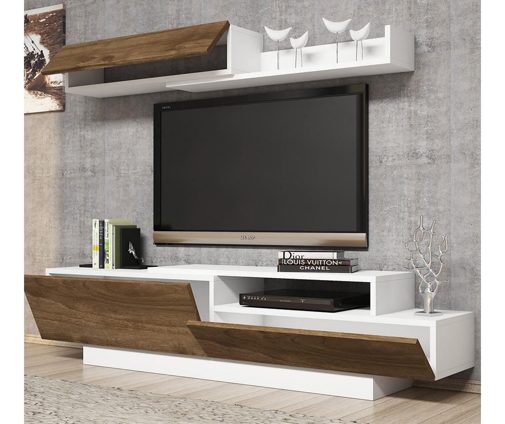 Set - TV komoda in 1 viseča element Elda White