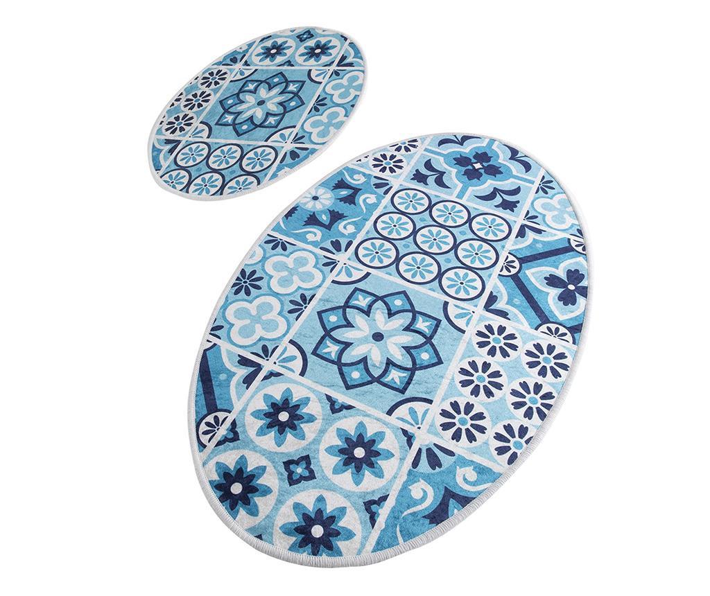 Sada 2 kúpeľňových predložiek Ceramic Paradise