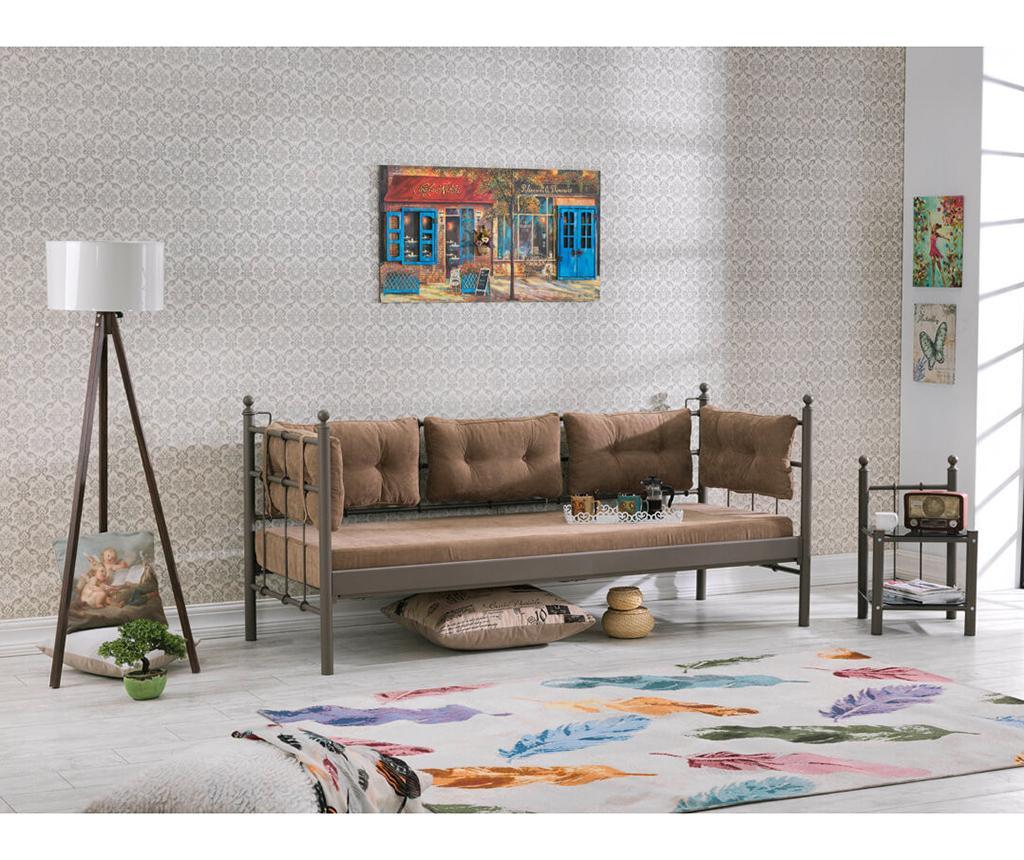 Canapea 3 locuri pentru exterior Lalas Extra Brown