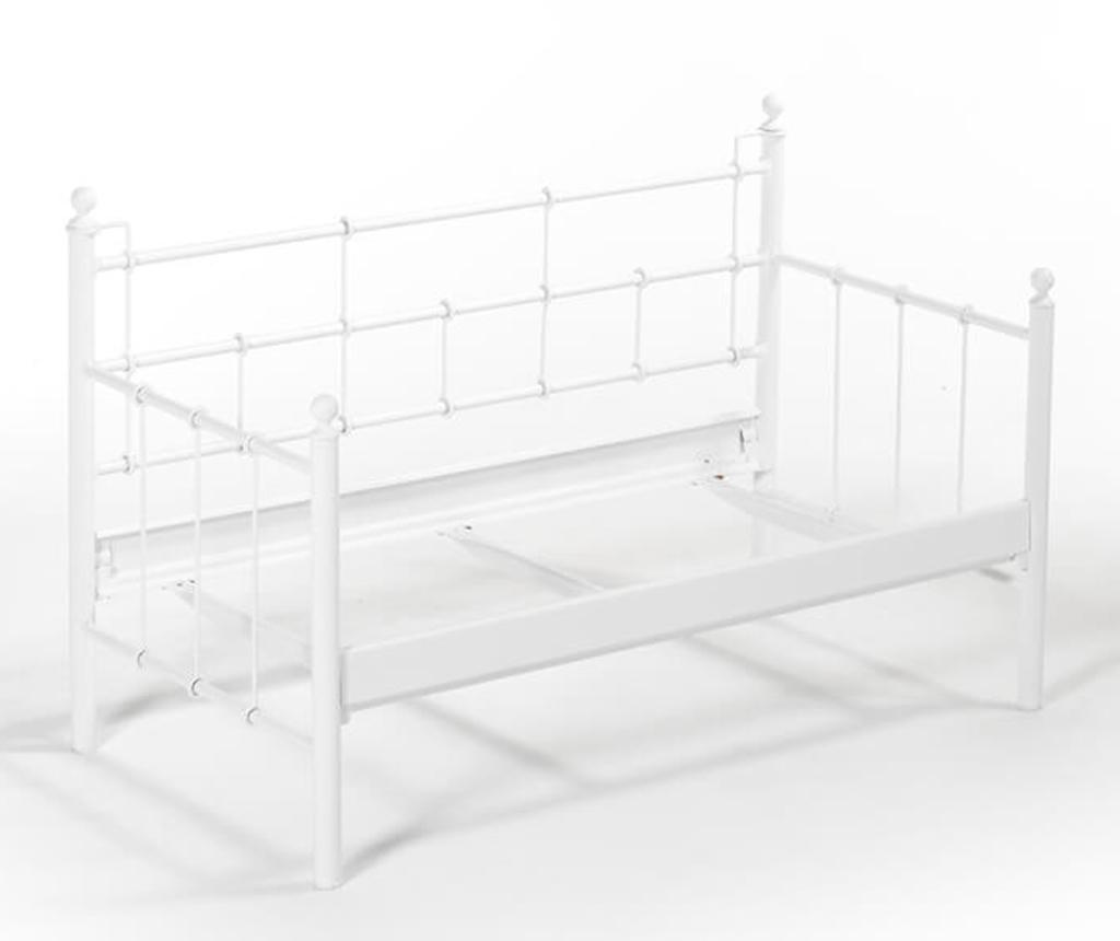 Canapea 2 locuri pentru exterior Lalas White and Brown