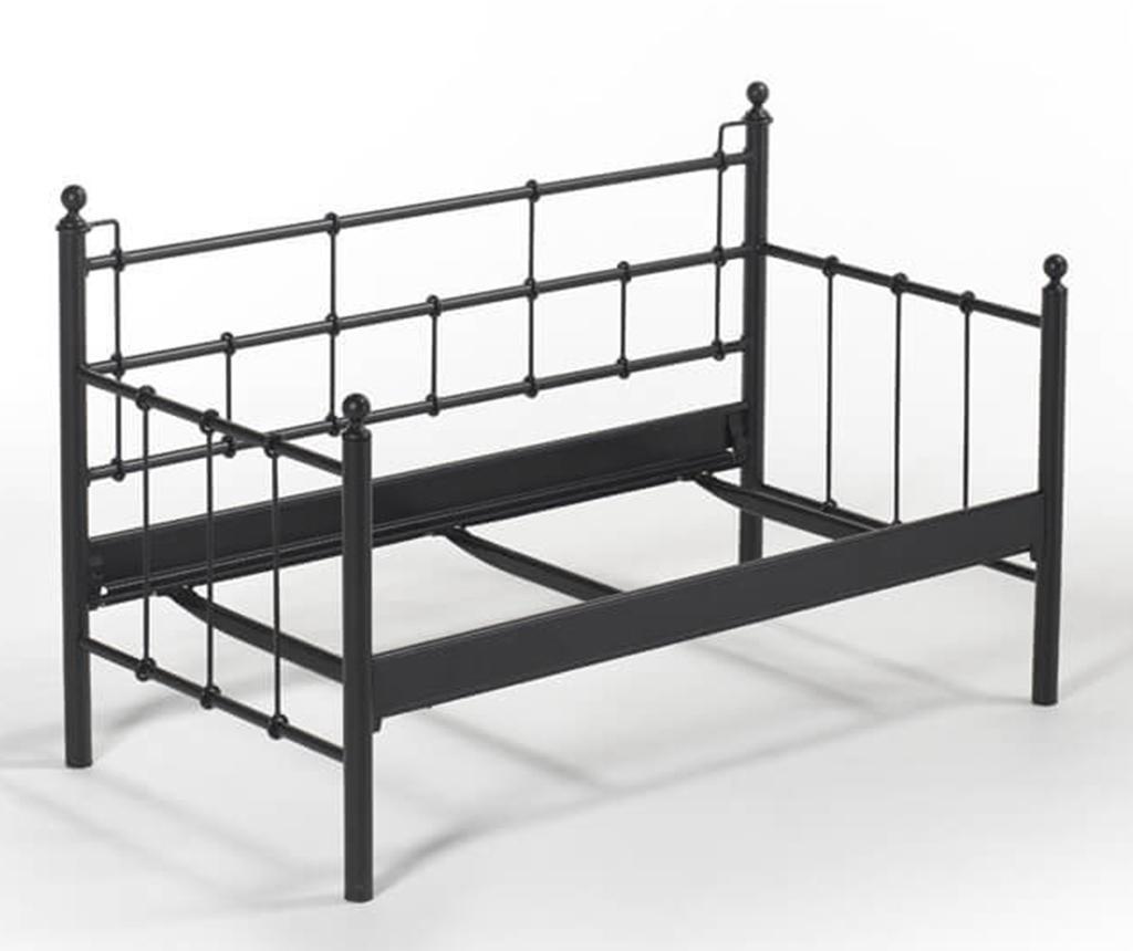 Canapea 2 locuri pentru exterior Lalas Black and Grey