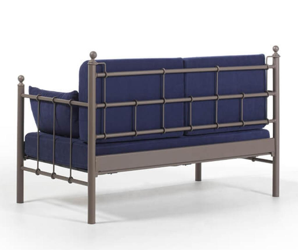 Canapea 2 locuri pentru exterior Lalas Brown and Dark Blue