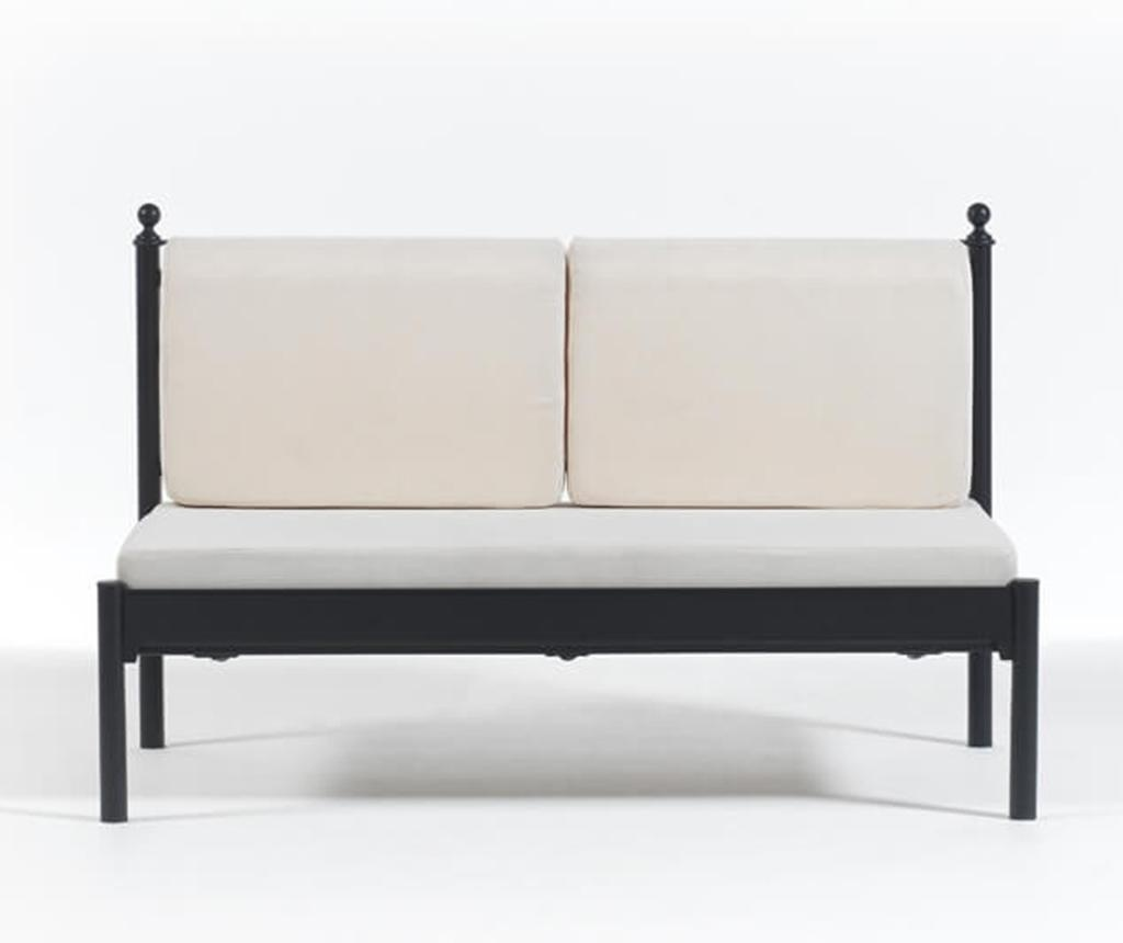 Kauč trosjed za vanjski prostor Mitas Black and Beige