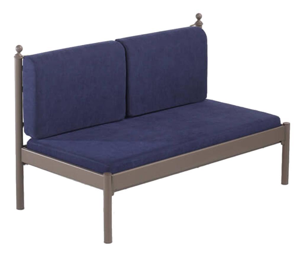 Canapea 2 locuri pentru exterior Mitas Brown and Dark Blue