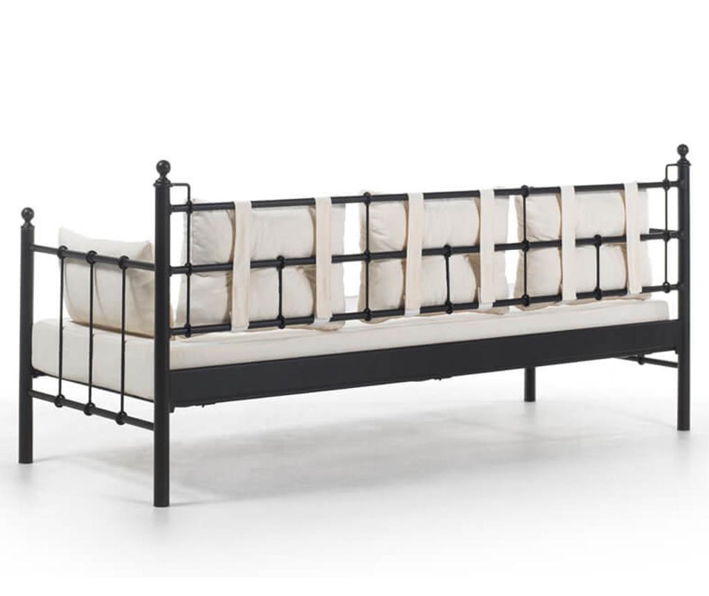Canapea 3 locuri pentru exterior Lalas Black and Beige