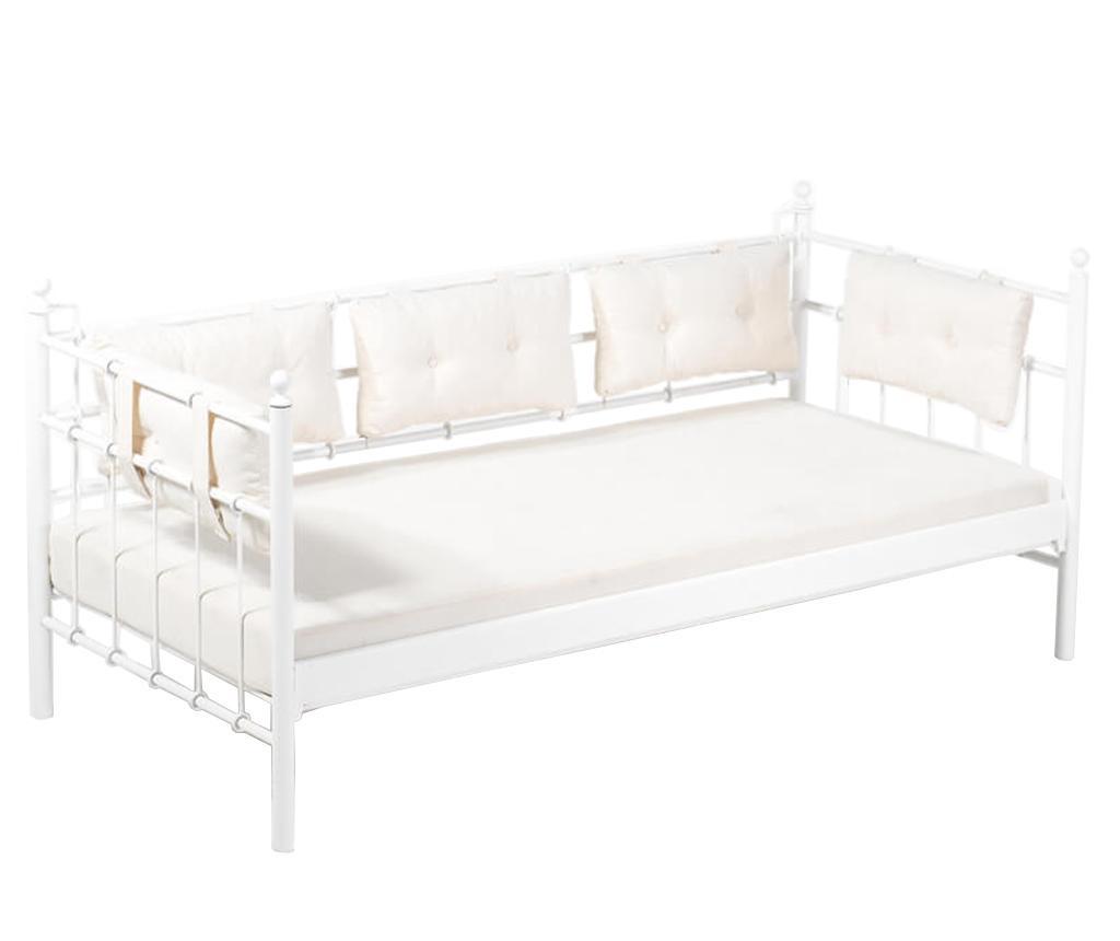 Canapea 3 locuri pentru exterior Lalas Wide White and Beige
