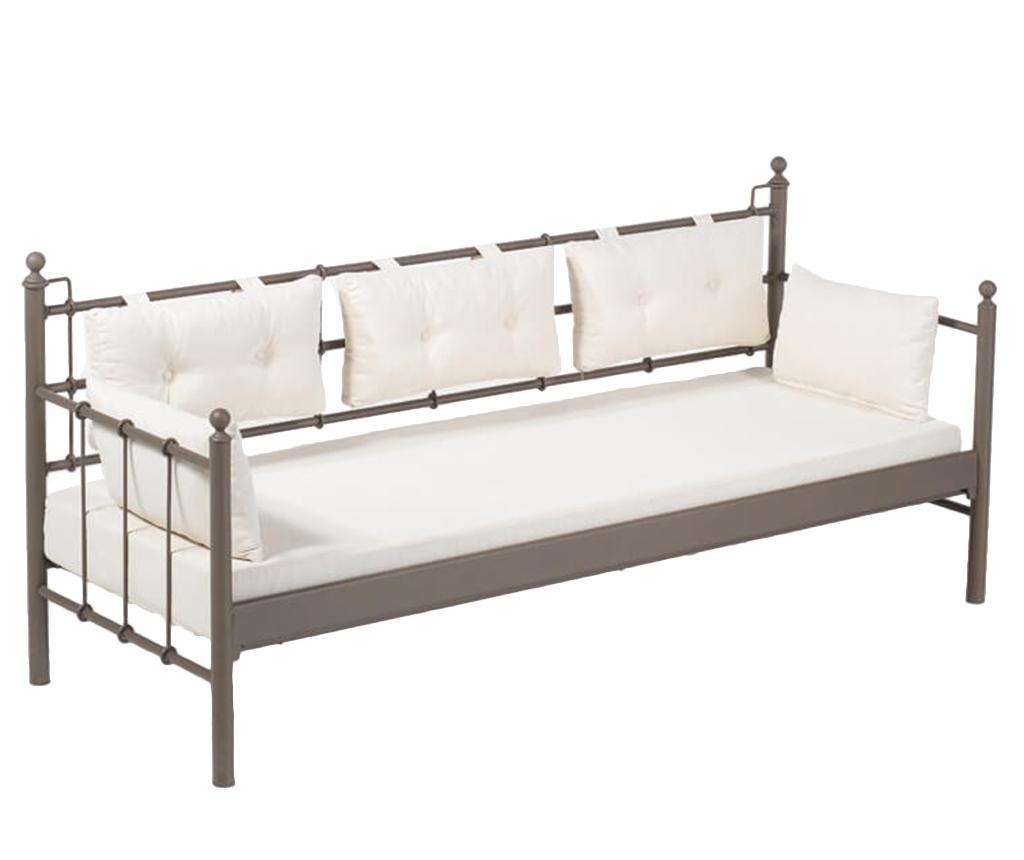 Canapea 3 locuri pentru exterior Lalas Wide Brown and Beige