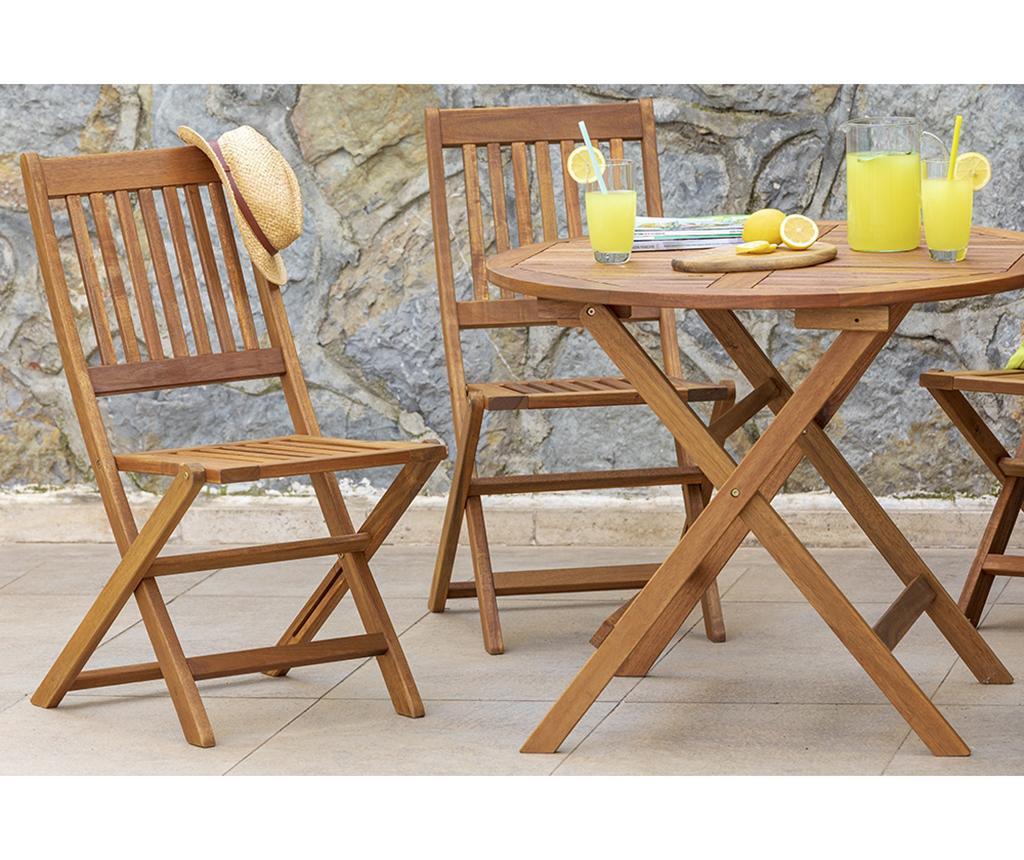 Set masa si 4 scaune pliabile Akasya