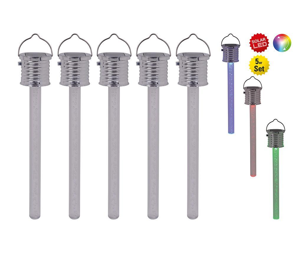 Set 5 solarnih stropnih svetilk Alvaro