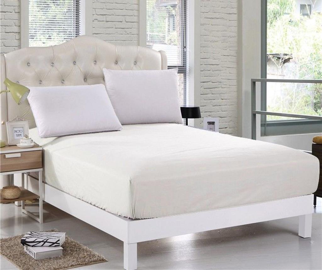 Cearsaf de pat cu elastic Orme Penye Cream 160x200 cm