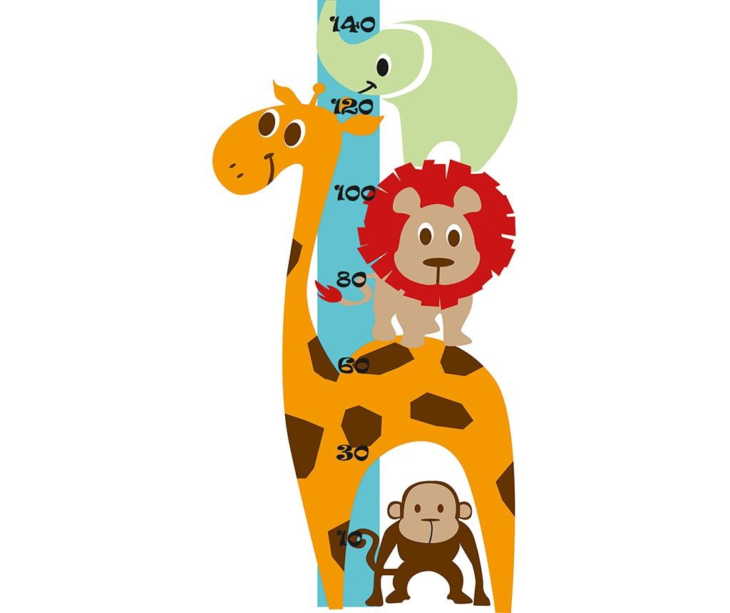 Sticker pentru masurat inaltime copii Animals
