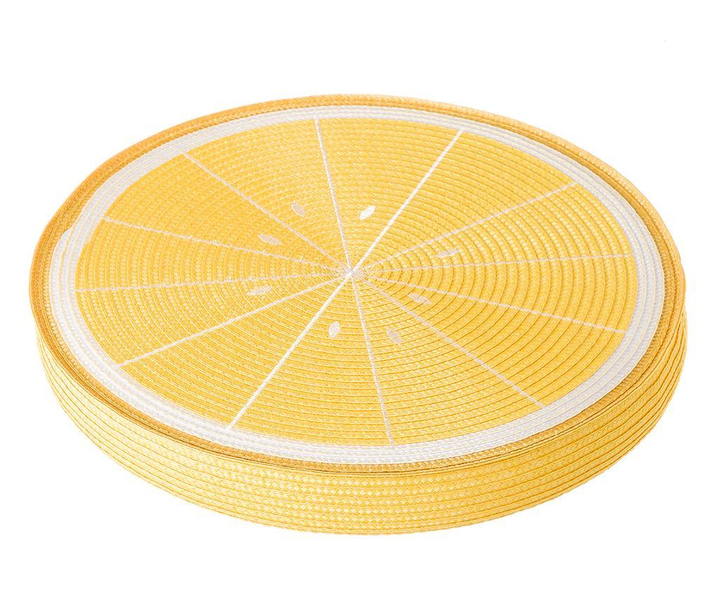 Jastuk za sjedalo Fruits Lemon Yellow